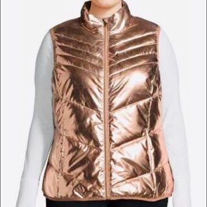 Cozy Rose Gold Puffer Vest